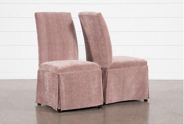Garten Quartz Skirted Dining Side Chairs Set Of 2