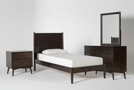 Alton Umber Twin 4 Piece Bedroom Set