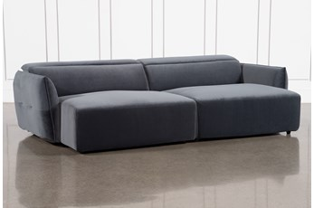 "Layla Midnight Dual Chaise 133"" Sectional"