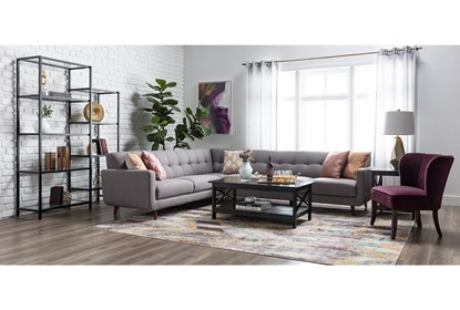 Allie Dark Grey 2 Piece Sectional With Right Arm Facing Sofa