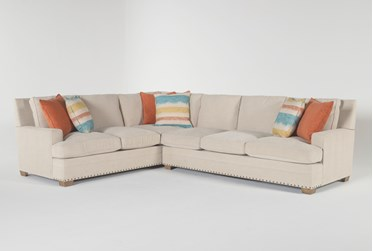"""Pamela II 2 Piece 130"""" Sectional With Right Arm Facing Sofa"""