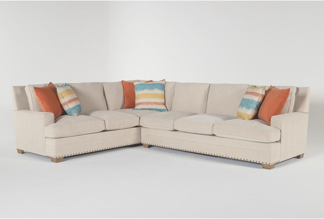"Pamela II 2 Piece 130"" Sectional With Right Arm Facing Sofa - 360"