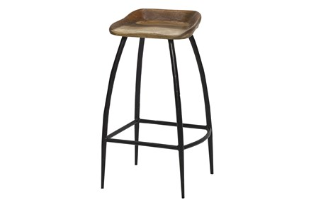 Reclaimed Wood Bar Stool