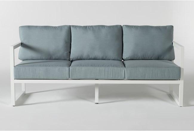 """Wilshire Aqua 77"""" Outdoor Sofa - 360"""