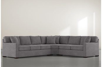 """Alder Down 3 Piece 125"""" Sectional With Left Arm Facing Sofa"""