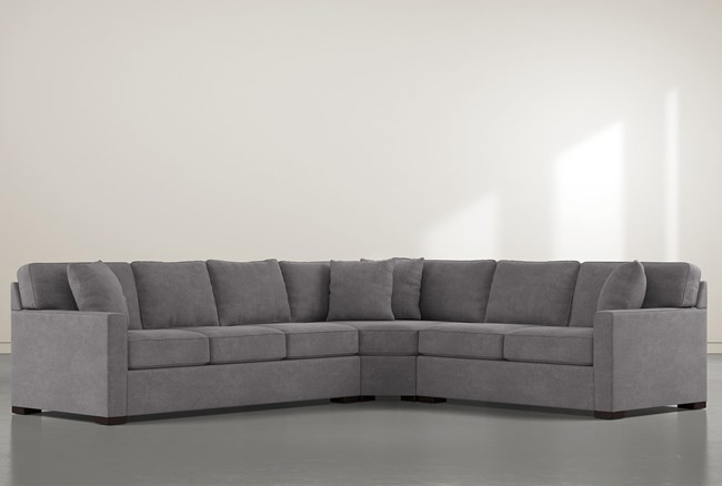"""Alder Down 3 Piece 125"""" Sectional With Left Arm Facing Sofa - 360"""