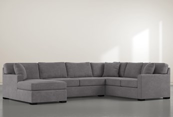 """Alder Down 3 Piece 136"""" Sectional With Left Arm Facing Chaise"""