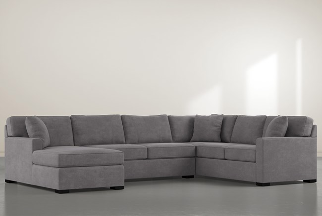 """Alder Down 3 Piece 136"""" Sectional With Left Arm Facing Chaise - 360"""