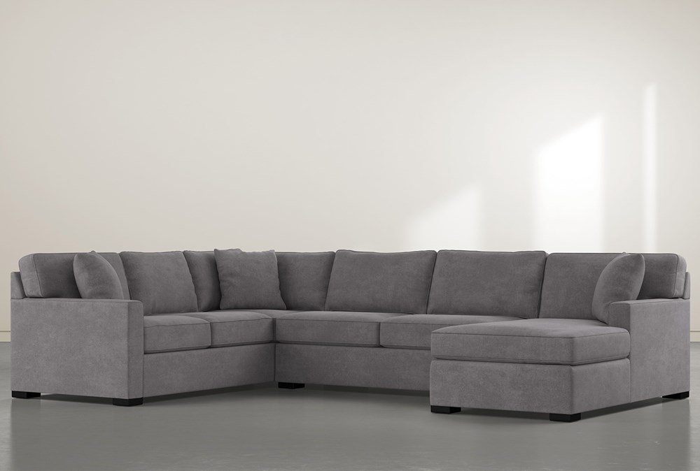 "Alder Down 3 Piece 136"" Sectional With Right Arm Facing Chaise"