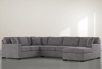 """Alder Down 3 Piece 136"""" Sectional With Right Arm Facing Chaise"""