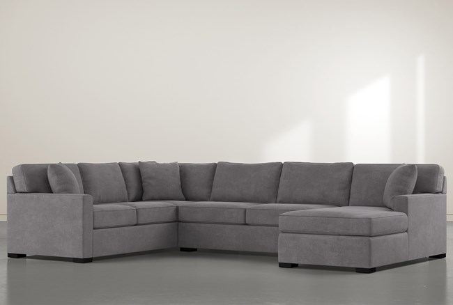 """Alder Down 3 Piece 136"""" Sectional With Right Arm Facing Chaise - 360"""