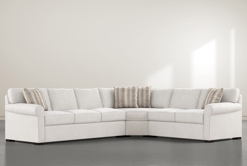 """Elm II Down 3 Piece 127"""" Sectional With Left Arm Facing Sofa"""
