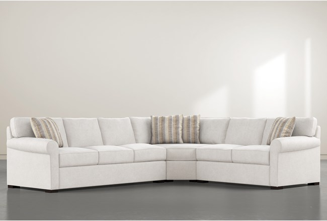 """Elm II Down 3 Piece 127"""" Sectional With Left Arm Facing Sofa - 360"""