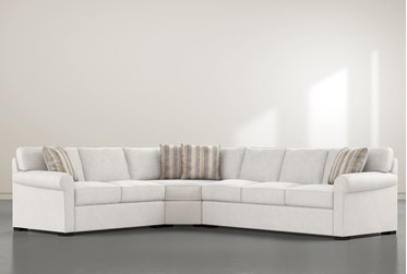 """Elm II Down 3 Piece 127"""" Sectional With Right Arm Facing Sofa"""