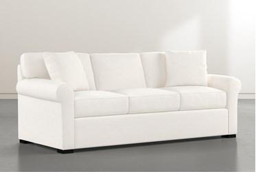 "Elm II White Down 87"" Sofa"