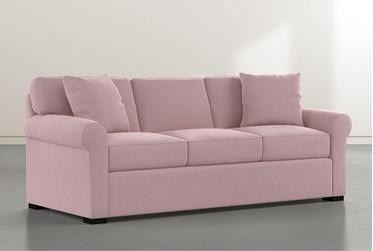 """Elm II Pink Velvet Down 87"""" Sofa"""