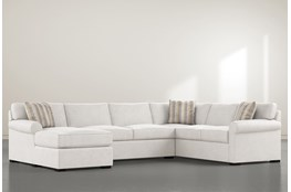 Elm II Down 3 Piece Sectional With Left Arm Facing Chaise