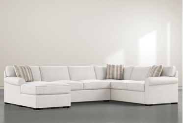 """Elm II Down 3 Piece 136"""" Sectional With Left Arm Facing Chaise"""