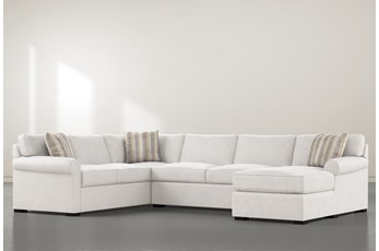 "Elm II Down 3 Piece 136"" Sectional With Right Arm Facing Chaise"