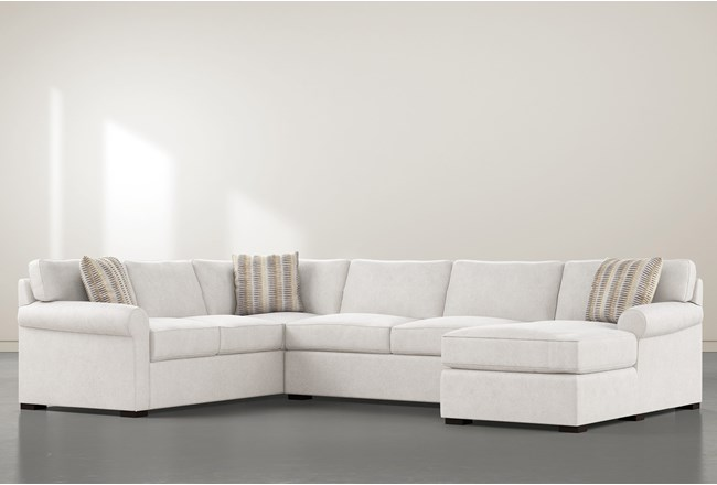 """Elm II Down 3 Piece 136"""" Sectional With Right Arm Facing Chaise - 360"""