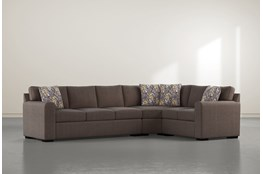 "Cypress II Down 3 Piece 124"" Sectional With Left Arm Facing Sofa"