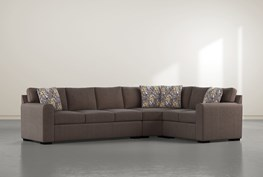 """Cypress II Down 3 Piece 124"""" Sectional With Left Arm Facing Sofa"""
