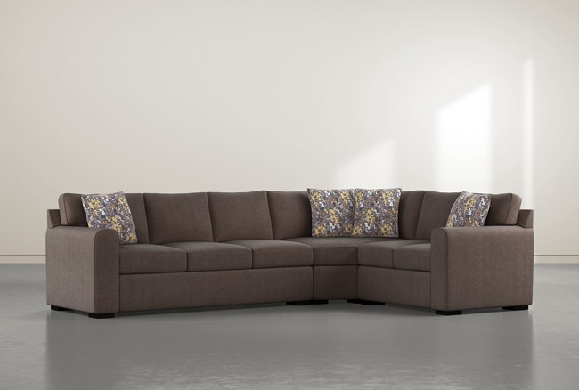 """Cypress II Down 3 Piece 124"""" Sectional With Left Arm Facing Sofa - 360"""