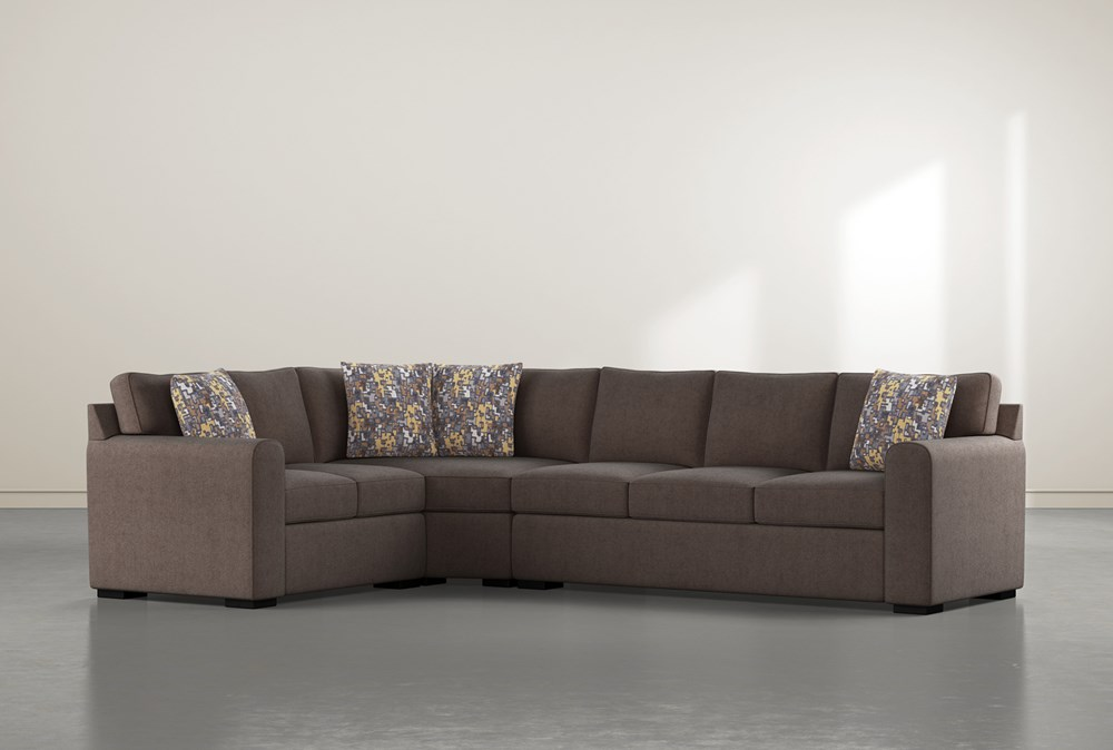 """Cypress II Down 3 Piece 124"""" Sectional With Right Arm Facing Sofa"""