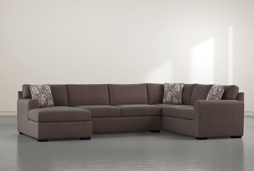 """Cypress II Down 3 Piece 136"""" Sectional With Left Arm Facing Chaise"""