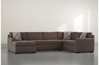 "Cypress II Down 3 Piece 136"" Sectional With Left Arm Facing Chaise"