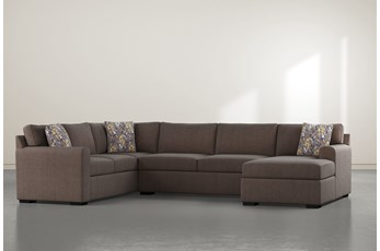 "Cypress II Down 3 Piece 136"" Sectional With Right Arm Facing Chaise"