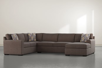 """Cypress II Down 3 Piece 136"""" Sectional With Right Arm Facing Chaise"""