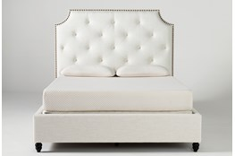 Sophia II Eastern King Upholstered Panel Bed