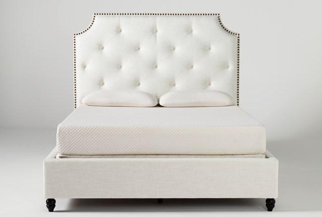 Sophia II Eastern King Upholstered Panel Bed - 360