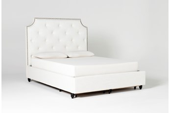 Sophia II California King Upholstered Panel Bed With Storage