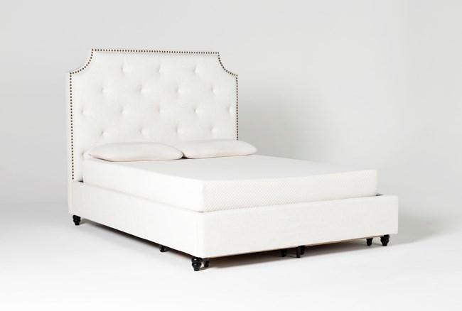 Sophia II California King Upholstered Panel Bed With Storage - 360
