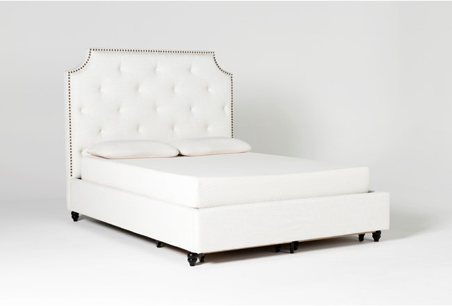 Sophia II California King Upholstered Panel Bed With Storage - 360