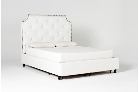 Sophia II Eastern King Upholstered Panel Bed With Storage