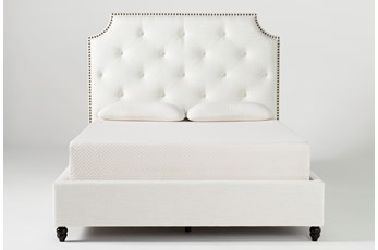 Sophia II Queen Upholstered Panel Bed With Storage