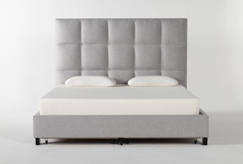 Boswell Eastern King Upholstered Panel Bed With Storage