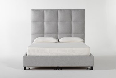 Boswell Queen Upholstered Panel Bed With Storage