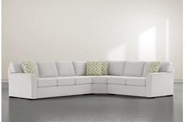 "Aspen Down 3 Piece 126"" Sectional With Left Arm Facing Sofa"