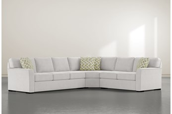 """Aspen Down 3 Piece 126"""" Sectional With Left Arm Facing Sofa"""