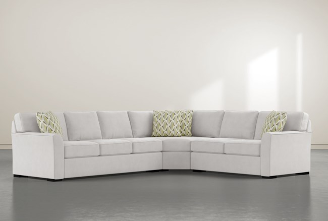"""Aspen Down 3 Piece 126"""" Sectional With Left Arm Facing Sofa - 360"""