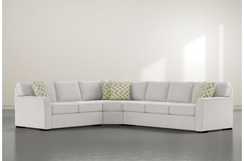 """Aspen Down 3 Piece 126"""" Sectional With Right Arm Facing Sofa"""