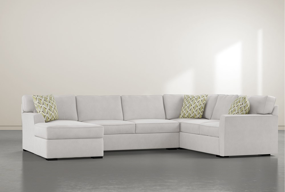 """Aspen Down 3 Piece 134"""" Sectional With Left Arm Facing Chaise"""