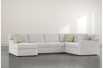 "Aspen Down 3 Piece 134"" Sectional With Left Arm Facing Chaise"