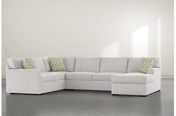"Aspen Down 3 Piece 134"" Sectional With Right Arm Facing Chaise"