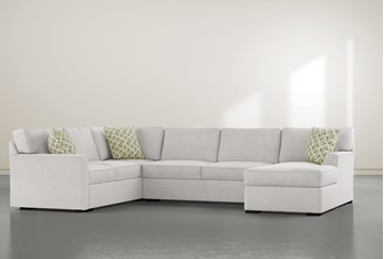 """Aspen Down 3 Piece 134"""" Sectional With Right Arm Facing Chaise"""