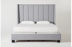 Topanga California King Velvet Upholstered Panel Bed